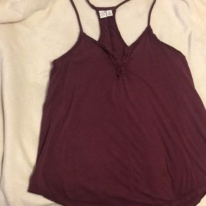 Melrose And Market Maroon Henry style tank top